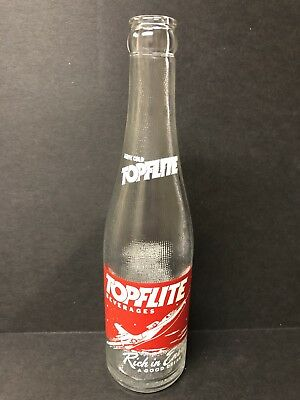 1960s ACL soda Topflite Beverages Bottle RED JET Rochester N. Y.