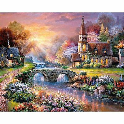 H4U1 Full Square Drill DIY 5D Diamond Painting by Number Kits,The Rising Sun and