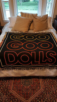 GOO GOO DOLLS - VIP Exclusive 2014 Tour Blanket/Tapestry, woven, 100% cotton VG