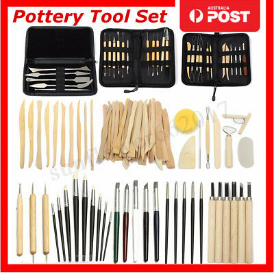 Clay Modeling Cutter Wood Mold Plier Sculpture Carving Craft Pottery Tool Set AU