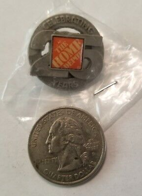 Collectible Pin: Home Depot 25th Anniversary Celebration Pin Pewter HTF RARE