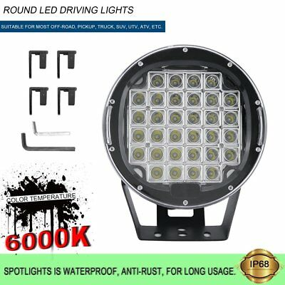 9inch 99999W LED Driving Lights SPOT Offroad Black Work Spotlight Round ATV