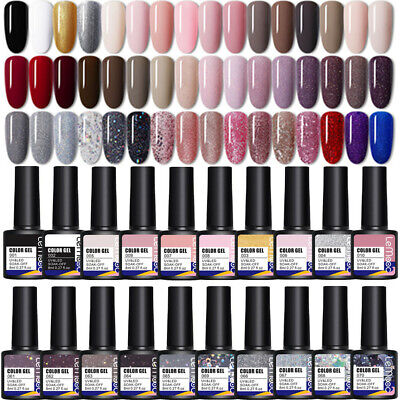 8ml LEMOOC Nail UV Gel Polish Soak off Nail Art UV Gel Color Varnish Nude White