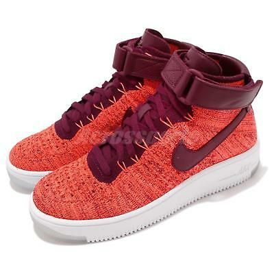 buy online 408bd e4371 Wmns Nike AF1 Flyknit Air Force 1 Crimson Red Womens Casual Shoes 818018-800