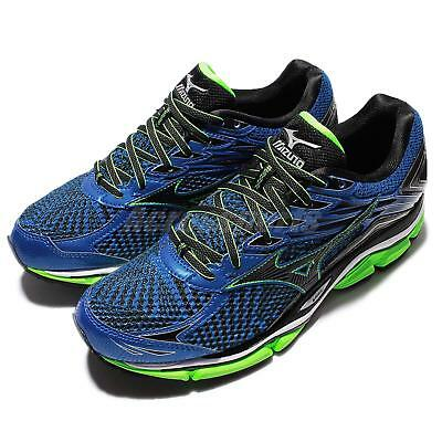 4173ce3bd6c Mizuno Wave Enigma 6 VI Black Blue Green Mens Running Shoes Sneakers  J1GC16-1109