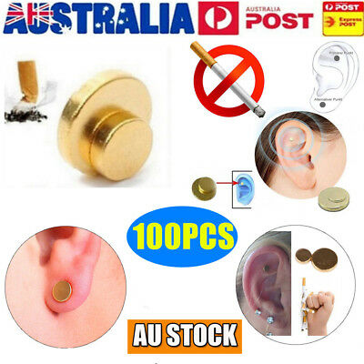 100pcs Quit Smoking Auricular Ear Magnet Therapy Smoke Weight Loss Acupressure