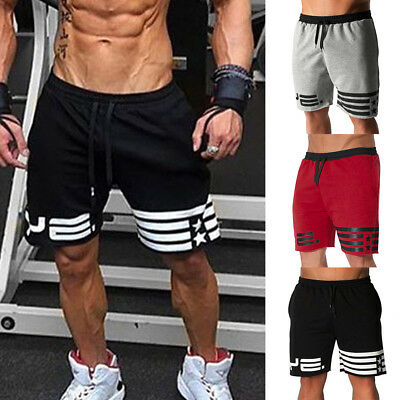 Mens Sport Running Bodybuilding Summer Breathable Shorts Fitness GYM Short Pants