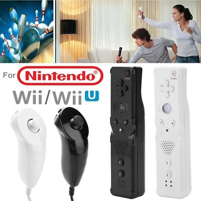 Built in Motion Plus Inside Remote+Nunchuck Controller for Nintendo Wii Console