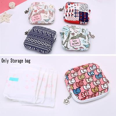 Girls Portable Cartoon Sanitary Napkins Pads Carrying Easy Pouch Bag Zipper US