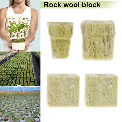 5/10Pcs Rockwool Cubes Hydroponic Grow Soilless Cultivation Planting Compress