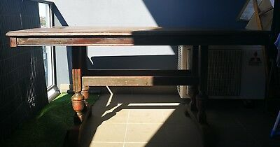 1940s dining table cedar solid timber antique shabby chic