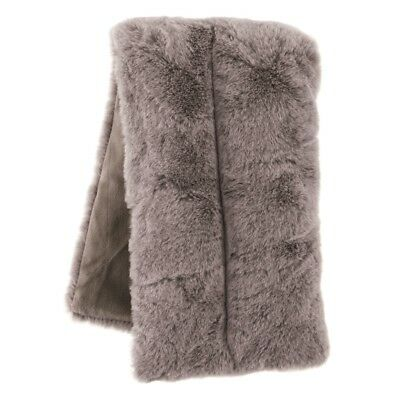 Aroma Home Stunning Grey Faux Fur Lavender Scented Microwavable Body Wrap