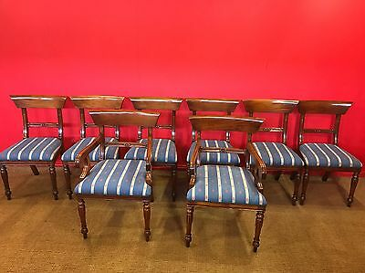 Set 8 Beautiful Georgian Mahogany Bar Back Chairs Pro French Polished.