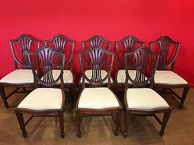 Set 8 Beautiful Prince Of Wales Style Mahogany Chairs Pro French Polished.