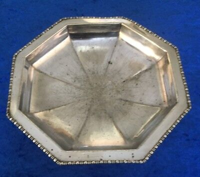 8 Sided Octagonal Silver Plated Dish