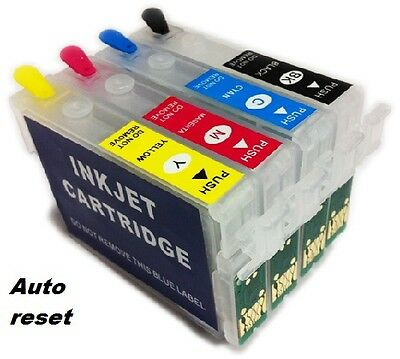 4 Refillable Non Oem Ink Cartridge For EPSON XP-255 XP-352 XP-257 XP-355 XP-452