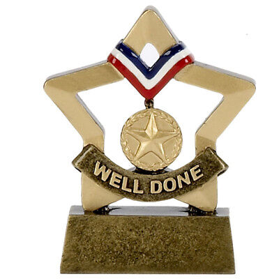 Gold Medal Welldone Trophy mini star. *Free Engraving*