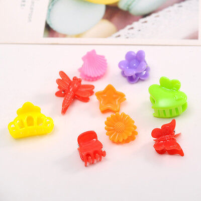 30PCS Fashion Mixed Colors Baby Girl Plastic Hair Claw Mini Clip Clamp Kids PU