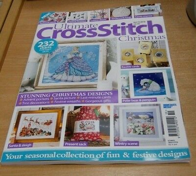 Ultimate Cross Stitch Bookazine Volume 19 2018 Christmas; 232 Charts