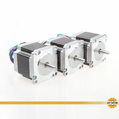 ACT MOTOR GmbH 3PCS Nema23 Stepper Motor 23HS5420 51mm 2A 4Leads 0.9Nm φ6.35mm