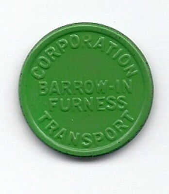 Barrow-in-Furness Corporation Transport  1 1/2d Employee  Transport Token