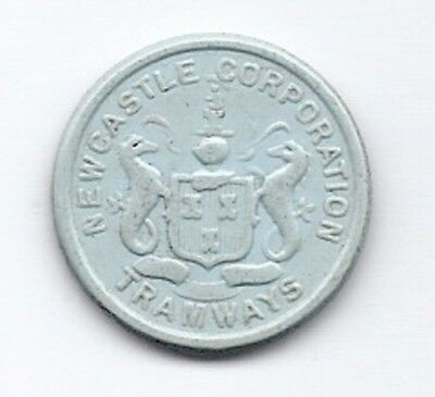 Newcastle Corporation Tramways  1 1/2d   Transport Token