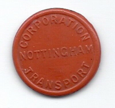 Nottingham Corporation Transport  1d A.R.P.   Transport Token