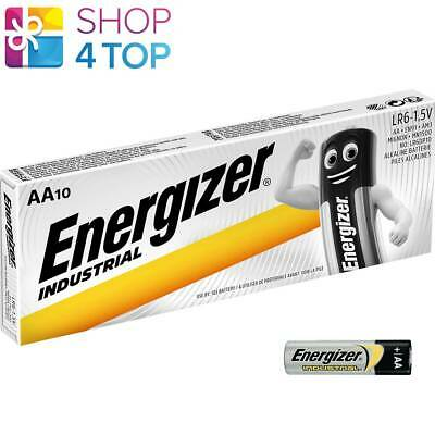 10 Energizer Aa Alkaline Lr6 Batteries 1.5V Industrial Mignon Mn1500 Am3 E91 New