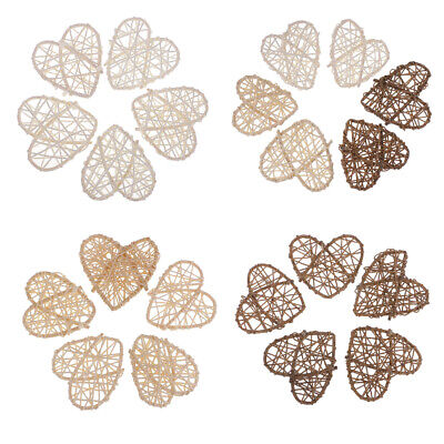 Pack of 5 Heart Shaped Rattan Wicker Ball Party Favors Photo Props DIY Craft