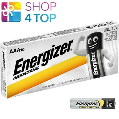 10 Energizer Aaa Alkaline Lr03 Batteries 1.5V Industrial Micro Mn2400 Am4 E92