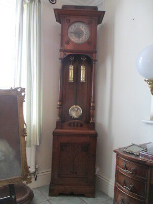 Rare 8 Day Arts And Crafts Longcase Grandfather Clock By Peerless Clock Co