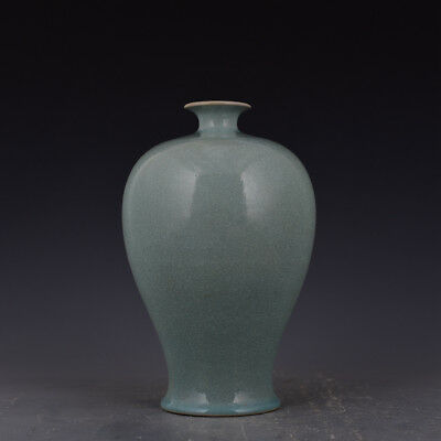 """9"""" China antique Porcelain Song ru kiln cracked ice pattern plum vase Collection"""