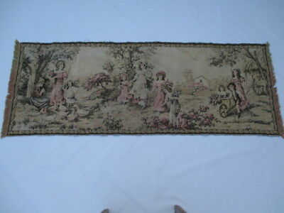 Old French / Belgium Tapestry Wall Hanging - 162 x 62 cm ( 4567 )