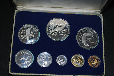 Coinage of Belize Sterling Silver 10 Dollars bis one Cent