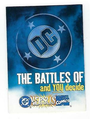 DC vs. MARVEL cards PROMO  ballot card unopened.