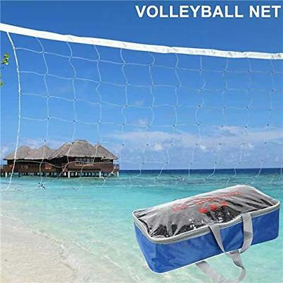Volleyball Net W. Steel Cable PE Rope Official Size Outdoor Indoor Beach USA