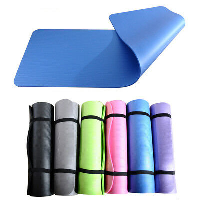 10MM Thick Yoga Mat Pad Non-slip Fitness Pilate Exercise Gym Cushion Durable