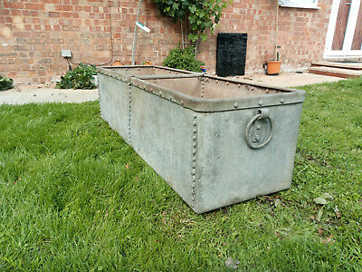 Large Galvanised Riveted Water Trough / Planter Garden Feature 5'1''x1'7''x1'5''