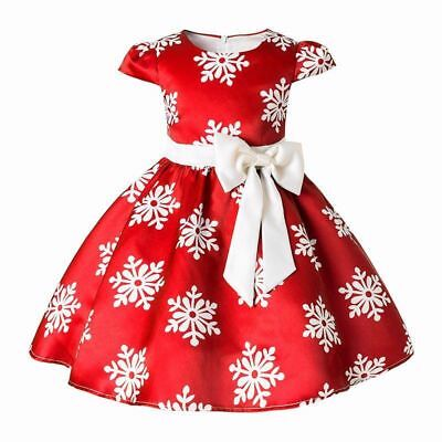 Christmas Dress Kids Clothes Baby Girls Princess Party Costume Children Clothing
