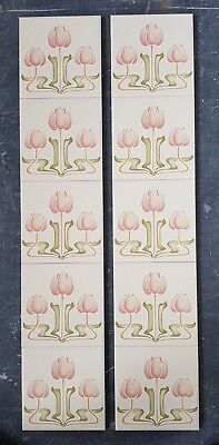 Minton Hollins Victorian tiles Fireplace tiles Feature Ceramic Tile Panel