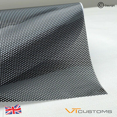 Perforated Film Mesh Tinting Headlights Tint Car Window Wrap Legal Fly-Eye Black