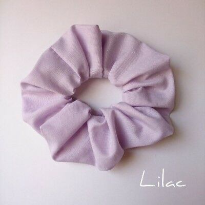 Soft purple coloured hair scrunchie Wide ponytail holder hair tie lilac pinky