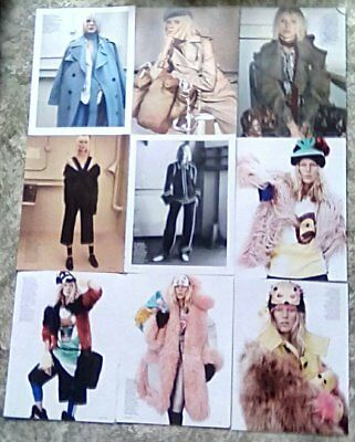 * Supermodel Iselin Steiro Clippings Pack 44 Full Pages Vogue Photoshoots + *