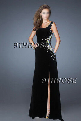 Embrace Your Diva! Beaded Black Netting Cutout Formal/Evening/Prom L Au 12/Us 10