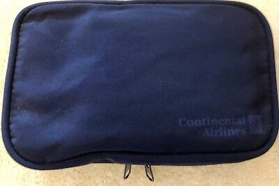 Continental Airlines Business First Travel Amenity Toiletry Kit Bag