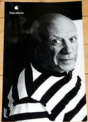 """PABLO PICASSO * APPLE poster * THINK DIFFERENT * 17""""/11"""" * mint * STEVE JOBS"""