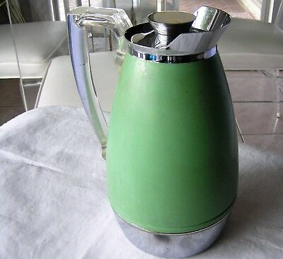 VINTAGE THERMOS BRAND Chrome Coffee Carafe 2585 Lucite Handle ...