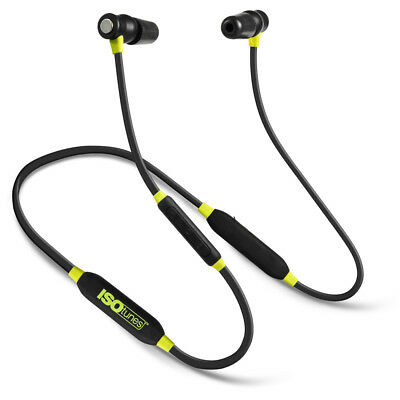 ISOtunes Xtra Yellow Noise Isolating Bluetooth Earbuds 27 dB NRR, 8 Hour Battery