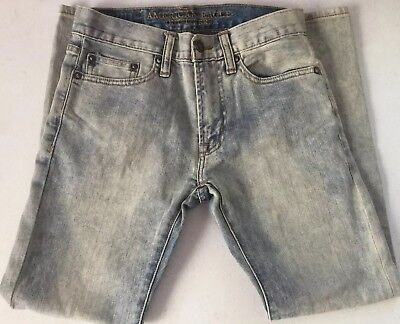 American Eagle Outfitters Boys Jeans 26 x 28 NEW Slim Straight Leg Faded Blue