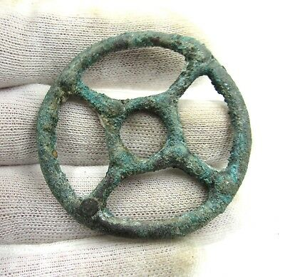 Authentic Ancient Celtic Bronze Sun Pendant Amulet - Wearable - G568